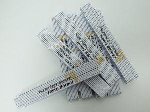 Zollstock Holz Werbedruck 2m Digitaldruck-Fliesenleger-Boerner