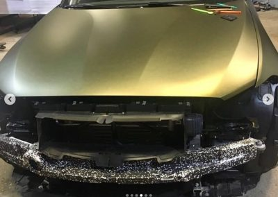 628-Carwrapping-Autofolie-gold-matt-kleben-Motorhaube-Folie-statt-Lack