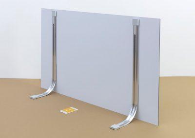 Bilderrahmen-Aufsteller-Schildhalter-Tischaufsteller-rahmenlose-Plattenhalterung