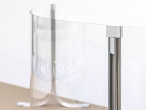 Corona-Wand-Wall-20-gebogene-Schutzwand-Spuckschutz-Acrylglas-rund