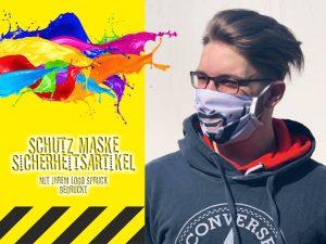 Coronavirus-Schutzmaske-Mundmaske-Nasenmaske-mit-Druck-Logo-Spruch