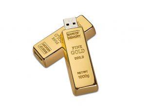 Gold-Barren-USB-Stick-Werbemittel-Gravur