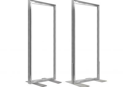 Messestand-Wechselrahmen-frame-freistehender-Rahmen-Aufsteller