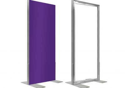 Messestand-Wechselrahmen-frame-freistehender-Rahmen-Textilrahmen-Aufsteller
