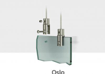 Schilder Deckenhalterung Edelstahl Schildhalter Decke mit deckenschild Oslo