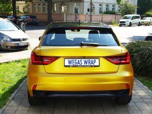 628-Autofolie-Avery-Carwrapping-Folienverklebung-gelb-metallic-Audi