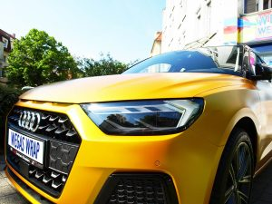 628-Autofolie-Carwrapping-yellow-Vollfolienverklebung-Audi