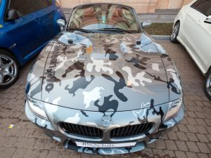 Autofolie-Carwrapping-Camouflage-Cardesign-Vollfolierung-Armee-Militaer