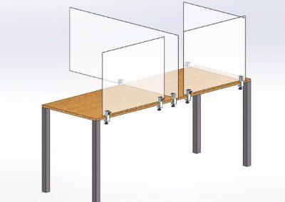 Klemmhalter-Unihalter-Corona-Spukschutzwand-Klemme-Tisch-Theke