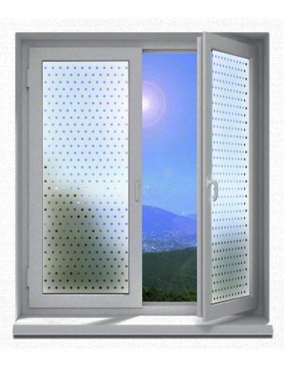 Sichtschutz-Glasdekor-Folienmotive-Punkte-Kreise-Negativ