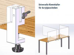 Universal-Klemmhalter-Corona-Trennscheibe-Schutzwand-Tischklemme