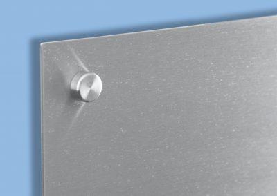 Wandschild-Abstandshalter-Abdeckkappe-Edelstahl-V2A-geschliffen