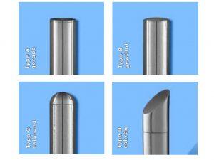 Wandschild-Pylon-Stele-Halterung-Wand-Display-Edelstahl-V2A-viele-Rohrabschluesse