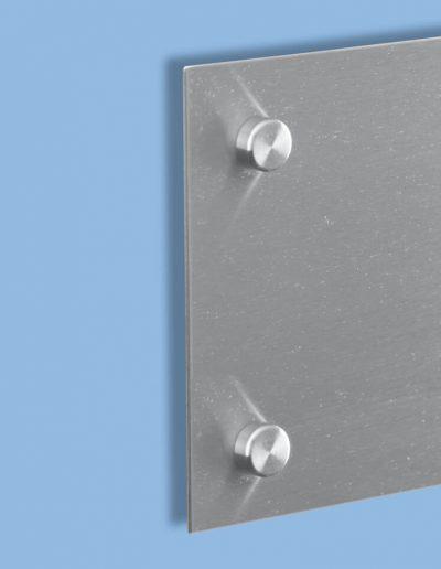 Wandschild-Winkelschild-Abstandshalter-Abdeckkappe-Edelstahl-V2A-geschliffen-Winkel