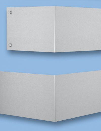 Wandschild-Winkelschilder-Eckschilder-Edelstahl-V2A-Gross