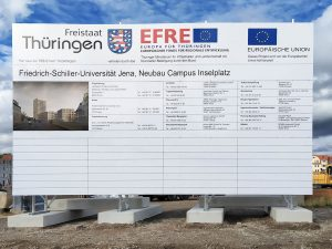 676-Bauschild-Alutraverse-Thueringen-Friedrich-Schiller-Universitaet-Jena