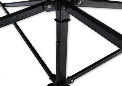 Faltpavillion-Event-Zelt-Einfach-Stahlgestell-schwarz-470-Aufziehen-Aufbau
