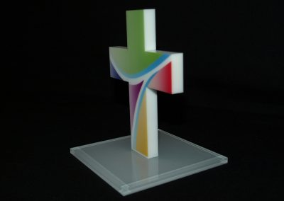 530-Acrylkreuz-Aufsteller-Figur-Kirche-Kreuz