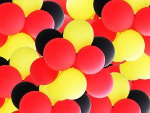 Luftballons-rot-schwarz-gelb-Deutschland-Werbeballon-Aufdruck