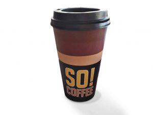 3-D-Figur-Plastik-Werbefigur-Kaffeebecher-Kaffee-to-go