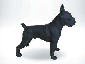 3-D-Figur-Tier-Plastik-Boxer-stehend-Kunstharz-einfarbig