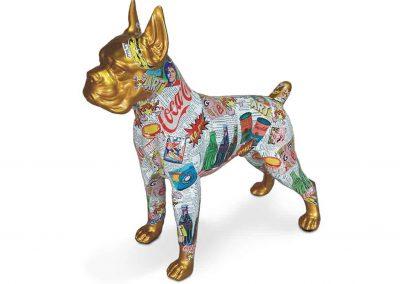 3-D-Figur-Tier-Plastik-Boxer-stehend-Pop-Art