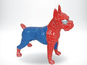 3-D-Figur-Tier-Plastik-Boxer-stehend-Spiderman