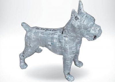 3-D-Figur-Tier-Plastik-Boxer-stehend-Zeitungslook