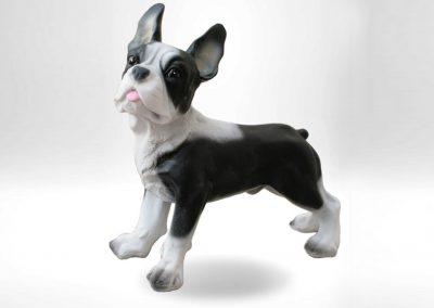 3-D-Figur-Tier-Plastik-Franzoesische-Bulldogge-Dekofigur-Dekohund-mehrfarbig