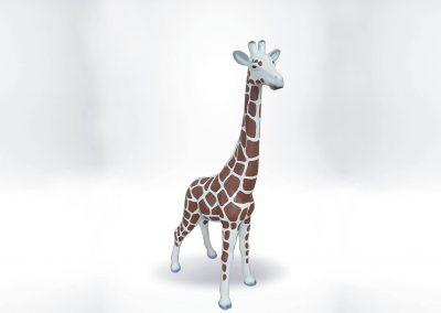 3-D-Figur-Tier-Plastik-Giraffe-klein-45cm-hoch