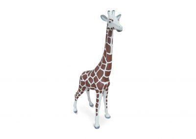 3-D-Figur-Tier-Plastik-Giraffe-klein-einfarbig