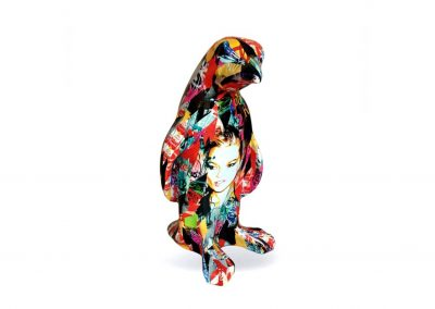 3-D-Figur-Tier-Plastik-Pinguin-Kunstharz-Handarbeit-Pop-Art