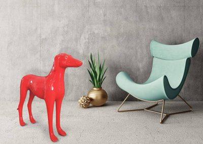 3-D-Figur-Tier-Plastik-Windhund-Dekorationsfigur-Werbefigur-Kunststoff