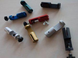 Klemmhalter-Halterung-Tischklemme-Rund-viele-Farben-Color-Corona-Covid-19-Acrylglas