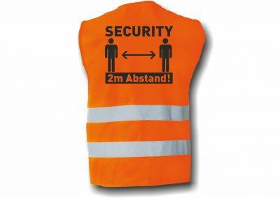 Warnweste-2-Warnstreifen-SECURITY-2m-Abstand-halten-Coronaschutz