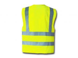 Wegas-fashion-Warnweste-Signal-Neon-Gelb-Vier-Reflexstreifen-Hinten