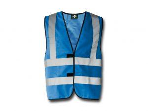 Wegas-fashion-Warnweste-blau-Vier-Reflexstreifen