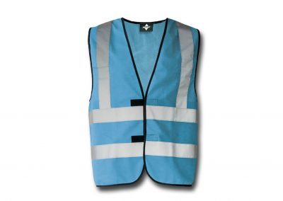 Wegas-fashion-Warnweste-hell-blau-Vier-Reflexstreifen
