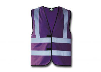 Wegas-fashion-Warnweste-lila-violett-Vier-Reflexstreifen