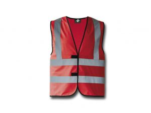 Wegas-fashion-Warnweste-rot-Vier-Reflexstreifen
