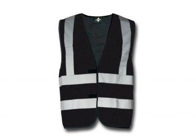 Wegas-fashion-Warnweste-schwarz-Vier-Reflexstreifen