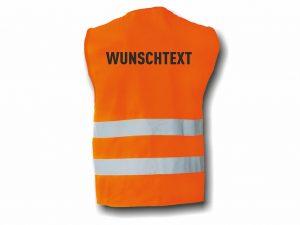Wegas-fashion-Warnweste-zwei-Reflexstreifen-Aufdruck-Wunschtext