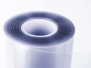 Coronaschutzfolie durchsichtig blau als Hygieneschutzfolie Meterware