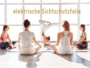 elektrische-Sichtschutzfolie-Fitnessraum-Club-Arzt-Physiotherapie-Praxis