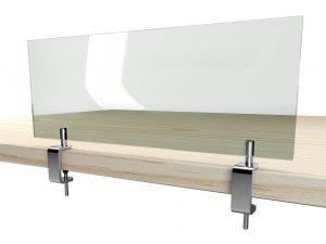 edle-Tischklemmen-Edelstahl-Schildhalter-Coronavirus-Schutz-Hygieneschutzscheibe