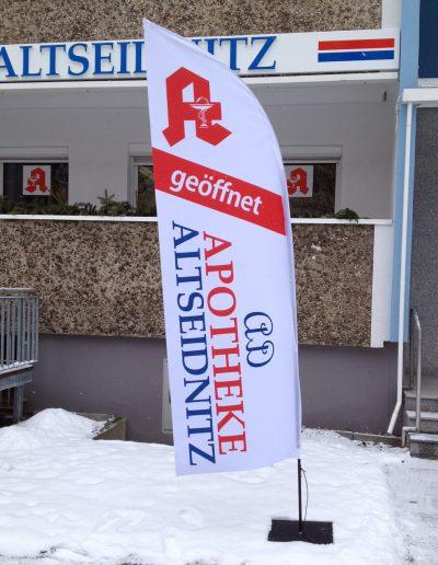 684-Fahne-Beachflag-Segel-beidseitiger-Druck-Apotheke