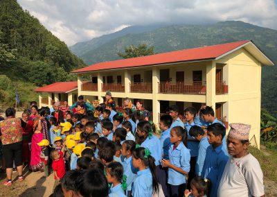 Schueler in Schule Nepal