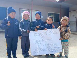 Schule White Hills English Sec School Nepal Kinder wuenschen happy christmas 2020