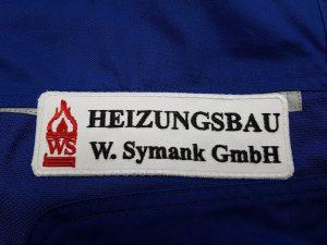 518-Arbeitssachen-Heizungsbau-Symank-Logo-Etikett-besticken