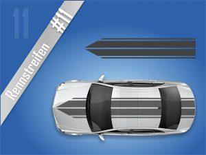 Autostreifen-Rennstreifen-Mustang-Racing-Streifen-Viperstreifen #2111